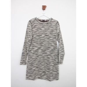 Lou & Grey Black And White Textured Knit Dress